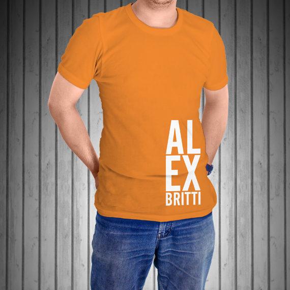 T-Shirt-Manica-Corta-Arancione-AL-EX-laterale-copia