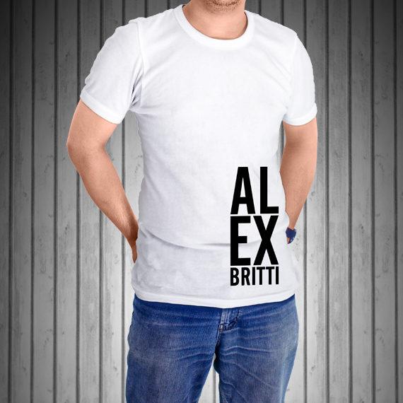 T-Shirt-Manica-Corta-Bianca-AL-EX-laterale