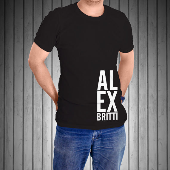 T-Shirt-Manica-Corta-Nera-AL-EX-laterale