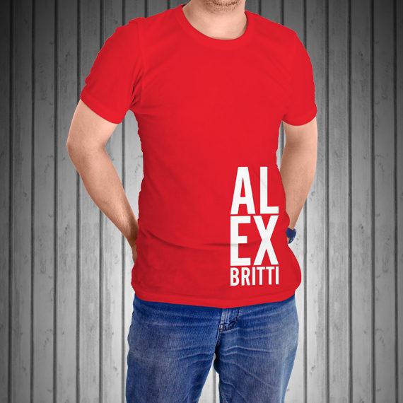 T-Shirt-Manica-Corta-Rossa-AL-EX-laterale