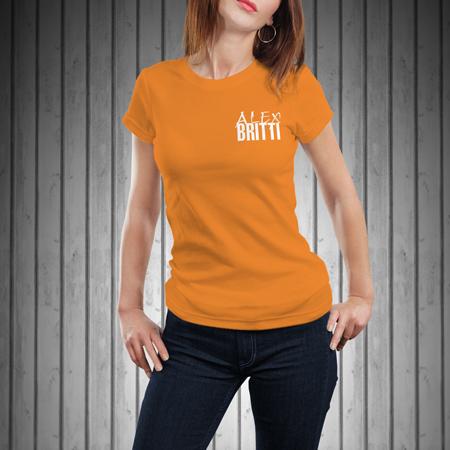 T-Shirt-Donna-Manica-Corta-Arancione-BRITTI