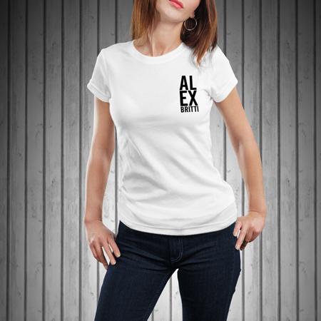 T-Shirt-Donna-Manica-Corta-Bianca-AL-EX
