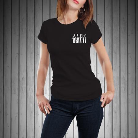 T-Shirt-Donna-Manica-Corta-Nera-BRITTI