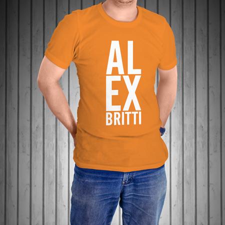 T-Shirt-Manica-Corta-Arancione-AL-EX
