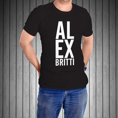 T-Shirt-Manica-Corta-Nera-AL-EX