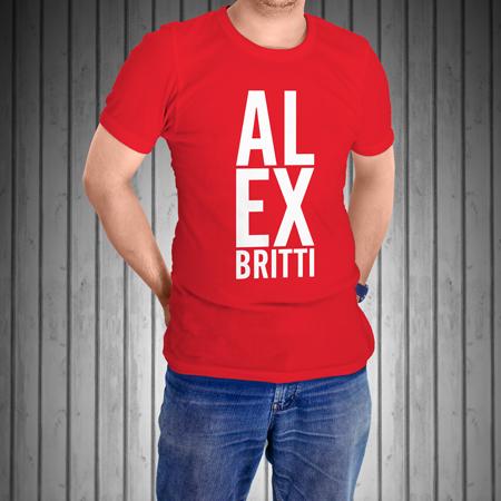T-Shirt-Manica-Corta-Rossa-AL-EX