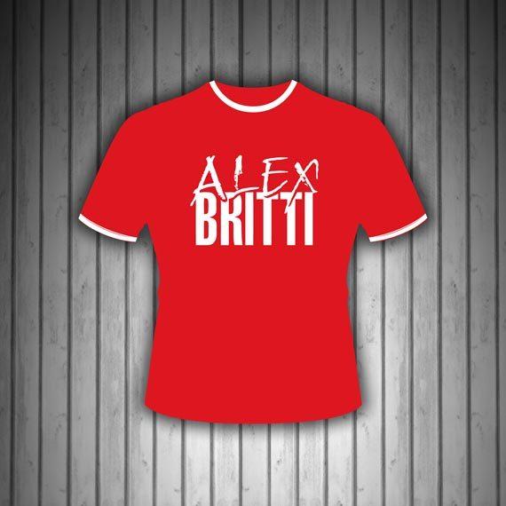 T-Shirt-Manica-Corta-Rossa-Bicolore